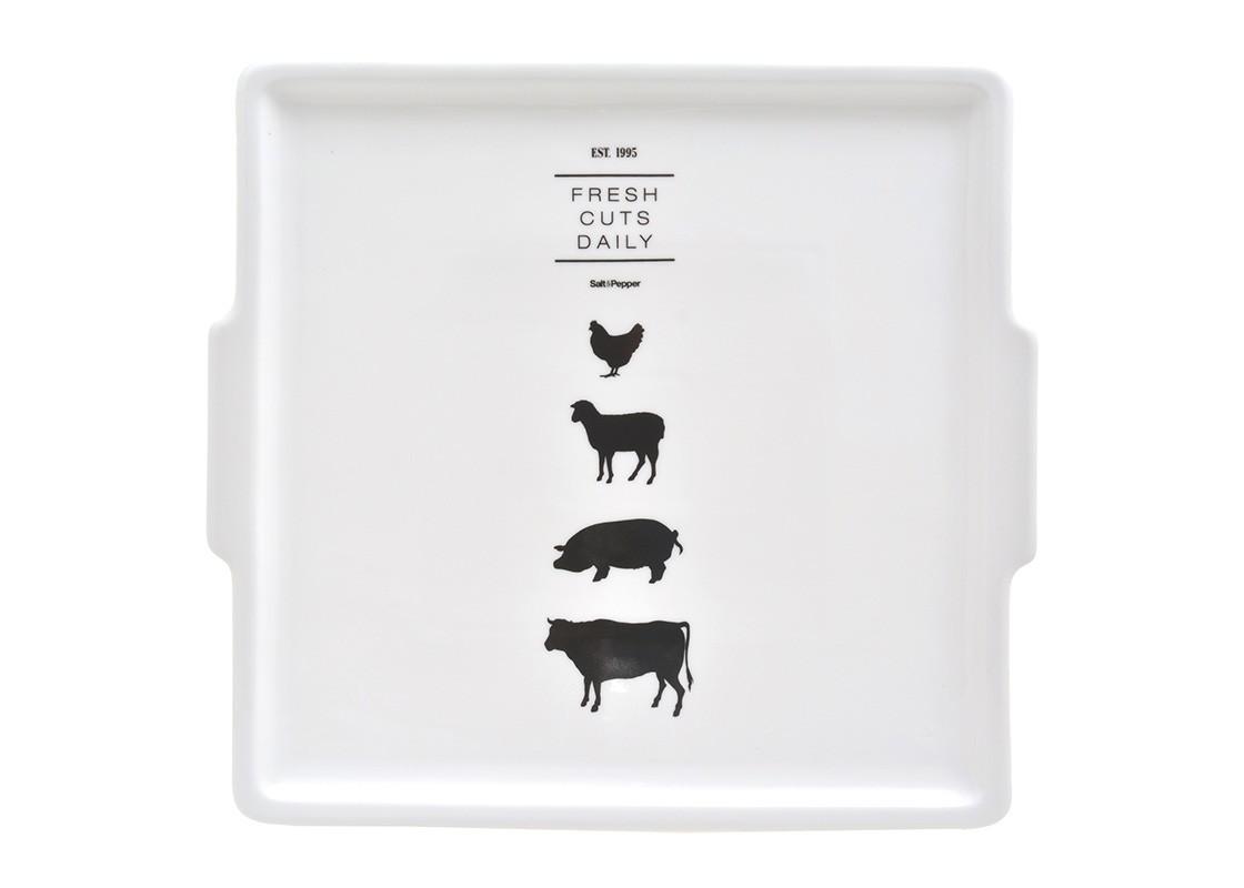 Блюдо BUTCHERДекоративные блюда<br><br><br>Material: Фарфор<br>Length см: 37<br>Width см: 35