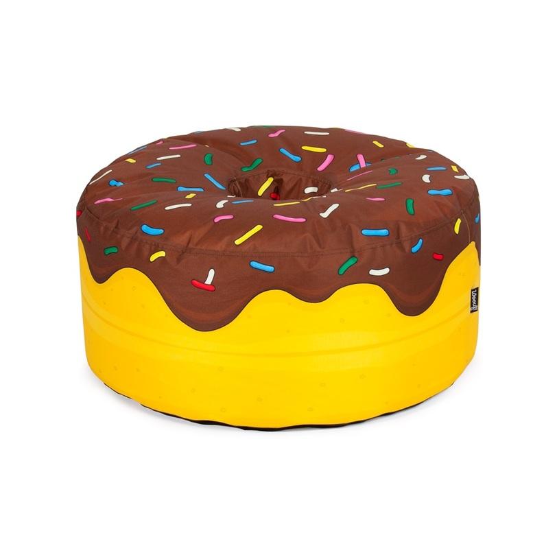"""Пуф YummyБесформенные пуфы<br>Испанская фабрика Woouf! предлагает сладкоежкам превратить каждый день в праздник, украсив дом пуфиками Yummy Chocolate в виде знаменитых американских пончиков. Бинбеги Woouf! — это бесперебойный источник эндорфинов, не отражающийся на фигуре. Мягкий пуф Yummy Chocolate наполнен вспененным полистиролом. Тканевый мешок — 100%-й полиэстер. В пару к шоколадному """"пончику"""" можно купить розовый Yummy. Если положить один пуфик на другой, то импровизированное кресло окажется высотой в 60 сантиметров. Ещё лучше — взять таких пуфов побольше, чтобы хватало всем желающим и можно было составлять из них целые башни.<br><br>Material: Текстиль<br>Length см: None<br>Width см: None<br>Depth см: None<br>Height см: 30.0<br>Diameter см: 65.0"""