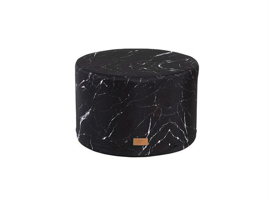 пуф-black-marble
