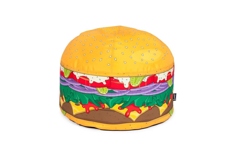Пуфик BurgerБесформенные пуфы<br>Будьте бдительны. За возможность усесться на бинбег Burger диаметром 52 сантиметра ваши гости, вполне вероятно, будут сражаться. Этот яркий, необычный, мягкий пуф сразу привлекает всеобщее внимание. Просто удивительно, насколько беспроигрышные идеи приходят в голову дизайнерам барселонской компании Woouf!<br><br>Material: Текстиль<br>Height см: 38<br>Diameter см: 52