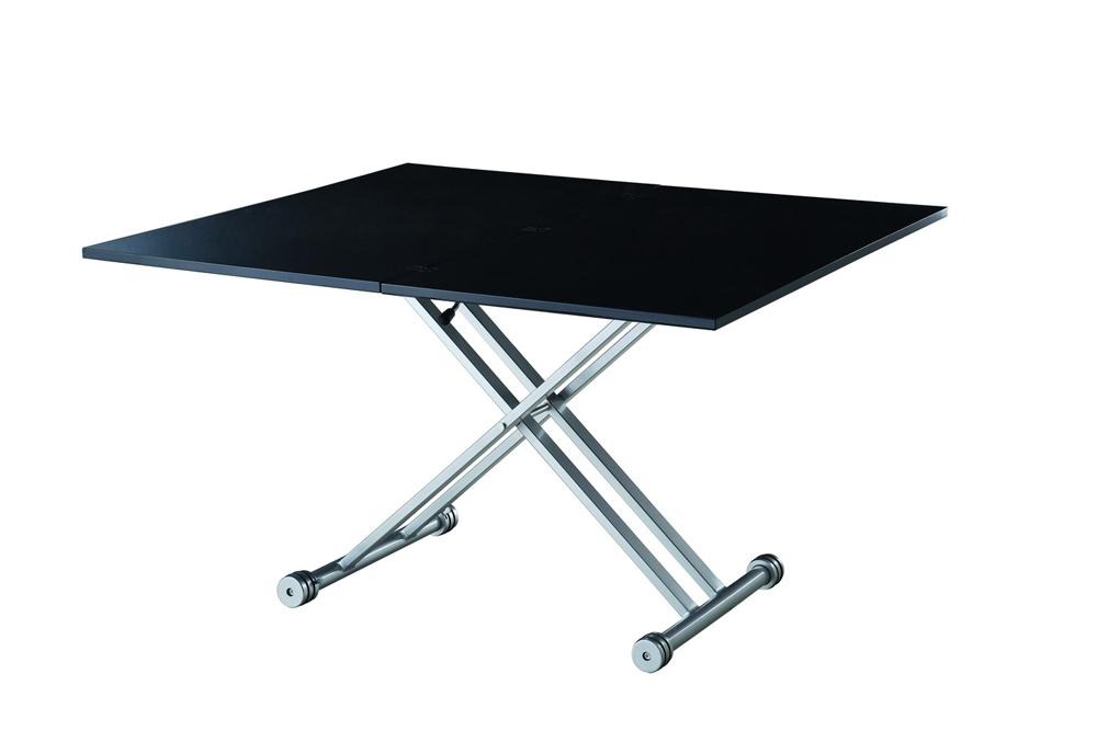 Стол В2166 AG черный лакОбеденные столы<br>Требуется сборка.<br>Раскладывается до размеров ширина 60-120 см, длина 110 см, высота 27-74 см.<br><br>Material: МДФ<br>Width см: 110<br>Depth см: 60<br>Height см: 27