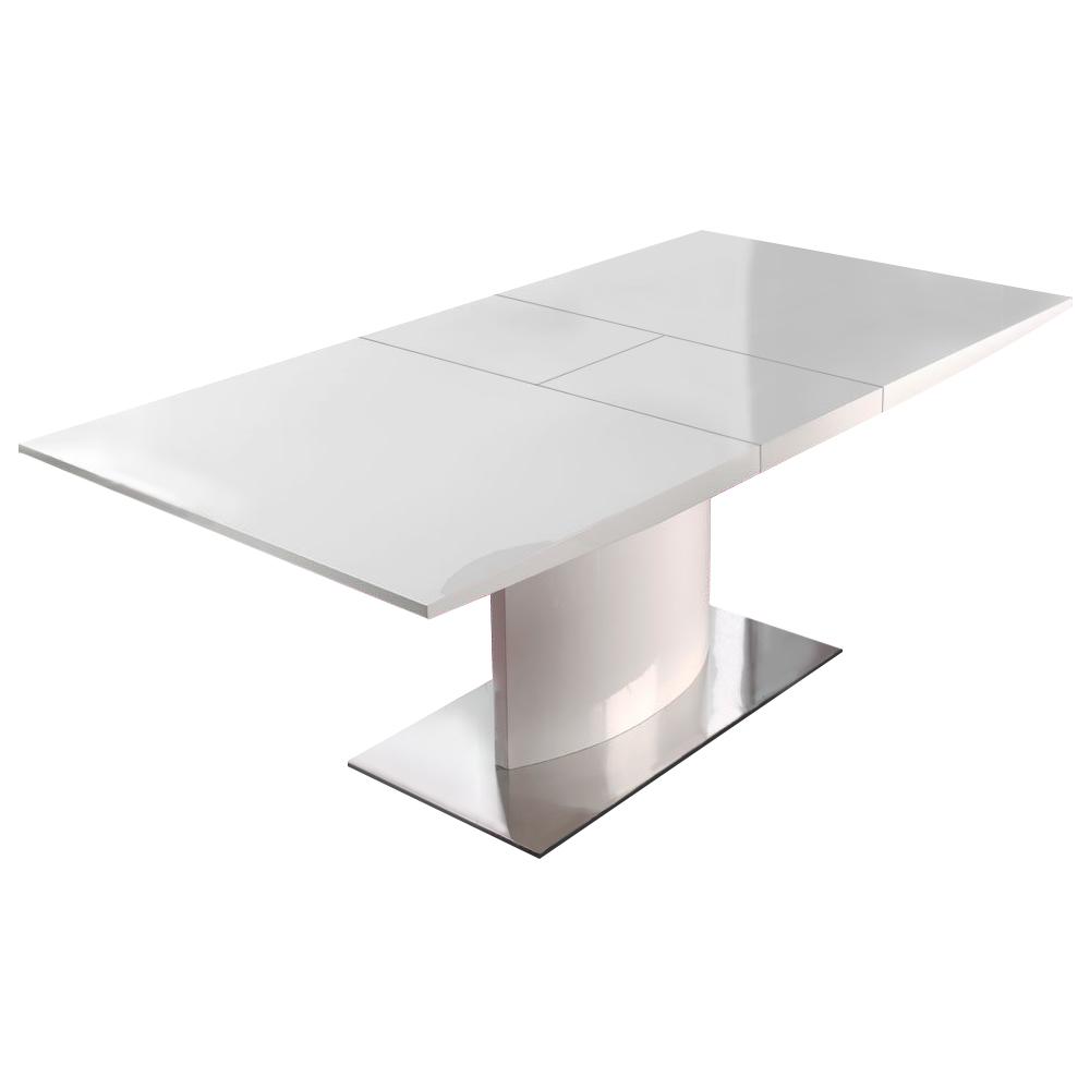 Стол DT-01 160(200) белыйОбеденные столы<br>Требуется сборка.<br>Раскладывается до ширины 200 см.<br><br>Material: МДФ<br>Width см: 160<br>Depth см: 90<br>Height см: 76