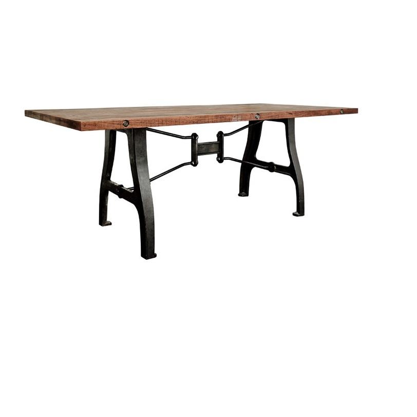 Стол Gabrielle Medium TableОбеденные столы<br>Оригинальный обеденный стол привлекает внимание, благодаря кованому основанию причудливой формы. Грубый и одновременно стильный дизайн с намеком на антикварную ценность.<br><br>Material: Дерево<br>Length см: 200<br>Width см: 104<br>Height см: 75