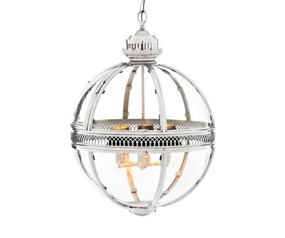 Подвесная люстраЛюстры подвесные<br>Lantern Residential. Подвесной светильник из стекла и металла. Цвет металла - никель. Высота подвеса регулируется. Можно дополнительно укомплектовать светильник абажурами.&amp;lt;div&amp;gt;&amp;lt;br&amp;gt;&amp;lt;/div&amp;gt;&amp;lt;div&amp;gt;&amp;lt;div&amp;gt;Вид цоколя: E14&amp;lt;/div&amp;gt;&amp;lt;div&amp;gt;Мощность: &amp;amp;nbsp;40W&amp;amp;nbsp;&amp;lt;/div&amp;gt;&amp;lt;div&amp;gt;Количество ламп: 6 (нет в комплекте)&amp;lt;/div&amp;gt;&amp;lt;/div&amp;gt;<br><br>Material: Металл<br>Height см: 88<br>Diameter см: 60