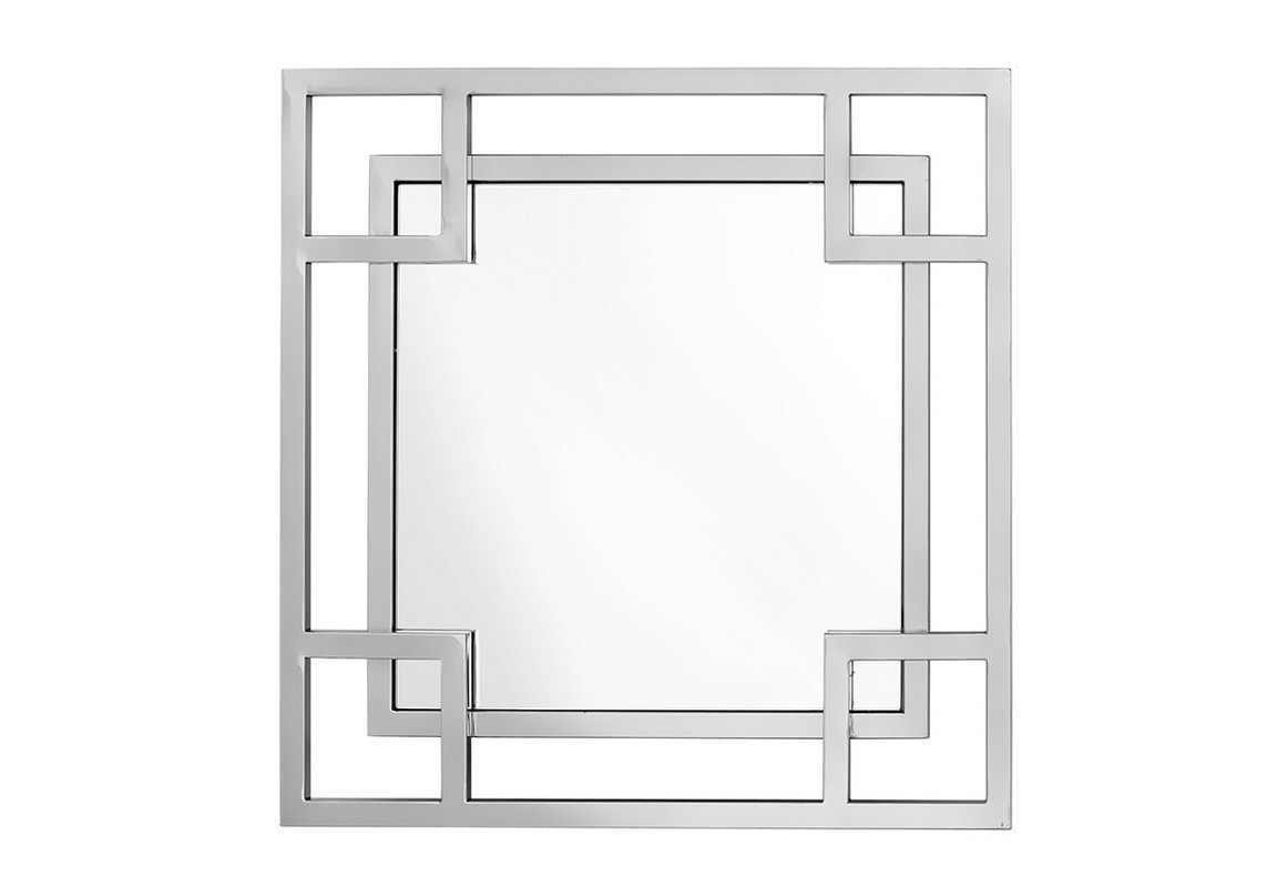 ЗеркалоНастенные зеркала<br>Настенноезеркало Mirror Dior в орнаменте из квадратных рамок цвета нержавеющей стали. Аксессуар придаст уют любому помещению.<br><br>Material: Металл<br>Ширина см: 70.0<br>Высота см: 70.0<br>Глубина см: 5.0