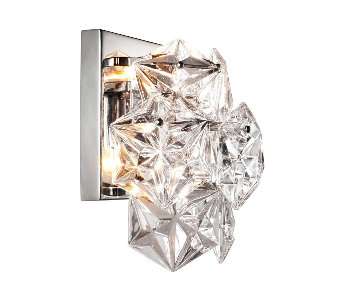 Настенный светильникБра<br>Настенный светильник Wall Lamp Hermitage на никелированной арматуре. Плафон выполнен из множества пластин из фактурного прозрачного стекла. Лампочки в комплект не входят.&amp;lt;div&amp;gt;&amp;lt;br&amp;gt;&amp;lt;/div&amp;gt;&amp;lt;div&amp;gt;&amp;lt;div style=&amp;quot;line-height: 24.9999px;&amp;quot;&amp;gt;Вид цоколя: E14&amp;lt;/div&amp;gt;&amp;lt;div style=&amp;quot;line-height: 24.9999px;&amp;quot;&amp;gt;Мощность: 40W&amp;amp;nbsp;&amp;lt;/div&amp;gt;&amp;lt;div style=&amp;quot;line-height: 24.9999px;&amp;quot;&amp;gt;Количество ламп: 2&amp;lt;/div&amp;gt;&amp;lt;/div&amp;gt;<br><br>Material: Стекло
