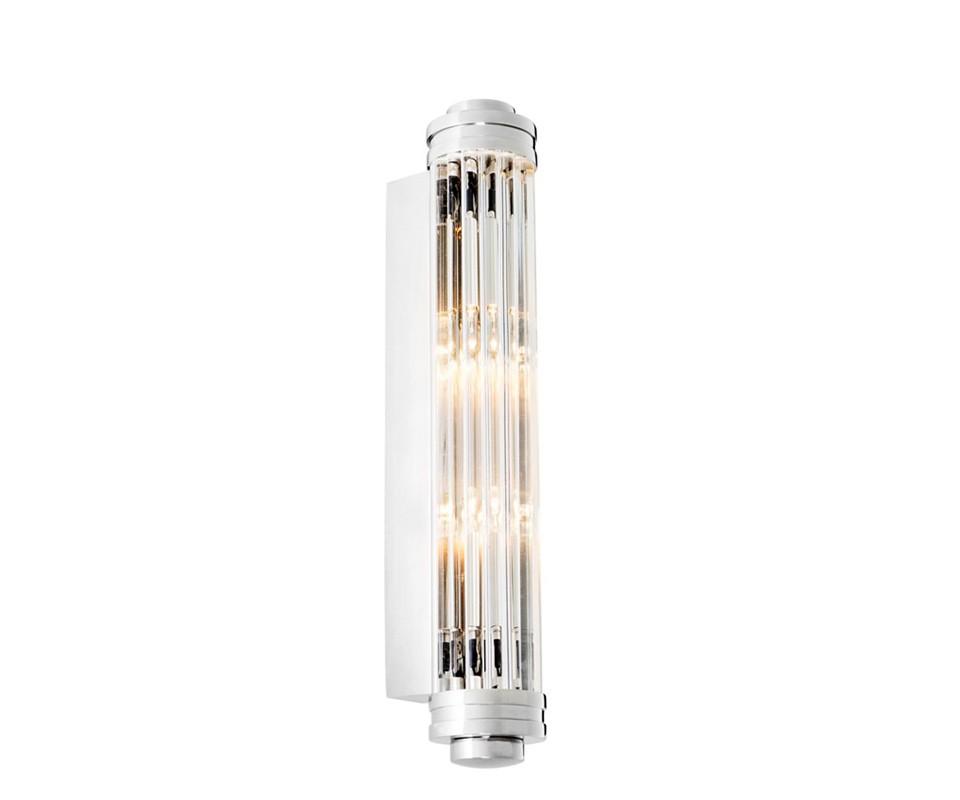 Настенный светильникБра<br>Настенный светильник Wall lamp Gascogne S выполнен из никелированного металла. Плафон выполнен из фактурного прозрачного стекла.&amp;lt;div&amp;gt;&amp;lt;br&amp;gt;&amp;lt;/div&amp;gt;&amp;lt;div&amp;gt;&amp;lt;div style=&amp;quot;line-height: 24.9999px;&amp;quot;&amp;gt;Вид цоколя: E14&amp;lt;/div&amp;gt;&amp;lt;div style=&amp;quot;line-height: 24.9999px;&amp;quot;&amp;gt;Мощность: 40W&amp;amp;nbsp;&amp;lt;/div&amp;gt;&amp;lt;div style=&amp;quot;line-height: 24.9999px;&amp;quot;&amp;gt;Количество ламп: 2&amp;lt;/div&amp;gt;&amp;lt;/div&amp;gt;&amp;lt;div&amp;gt;&amp;lt;br&amp;gt;&amp;lt;/div&amp;gt;<br><br>Material: Стекло<br>Width см: 7,5<br>Depth см: 9,5<br>Height см: 40