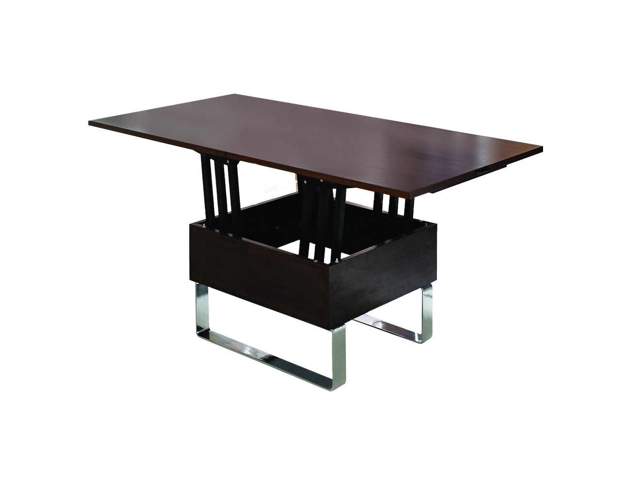 Стол В2218 AG венгеЖурнальные столики<br>Стол раскладывается, ширина от 75 до 150 см.&amp;lt;div&amp;gt;Материалы: МДФ, металл&amp;lt;/div&amp;gt;<br><br>Material: МДФ<br>Width см: 75<br>Depth см: 75<br>Height см: 76