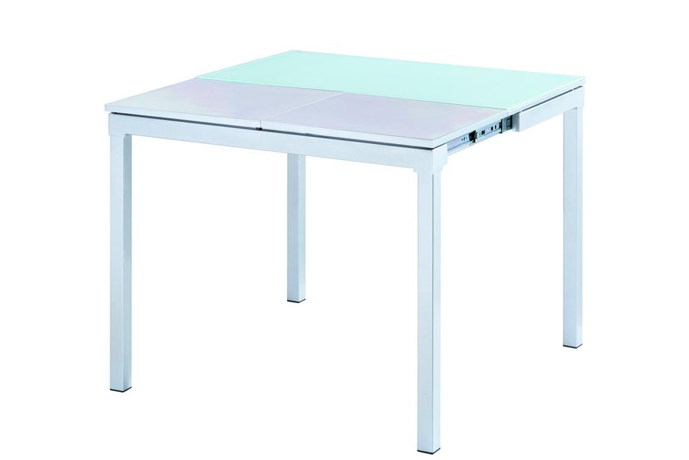Стол 4002 белыйОбеденные столы<br>Раскладывается до 90 см.<br><br>Material: МДФ<br>Width см: 90<br>Depth см: 50<br>Height см: 75