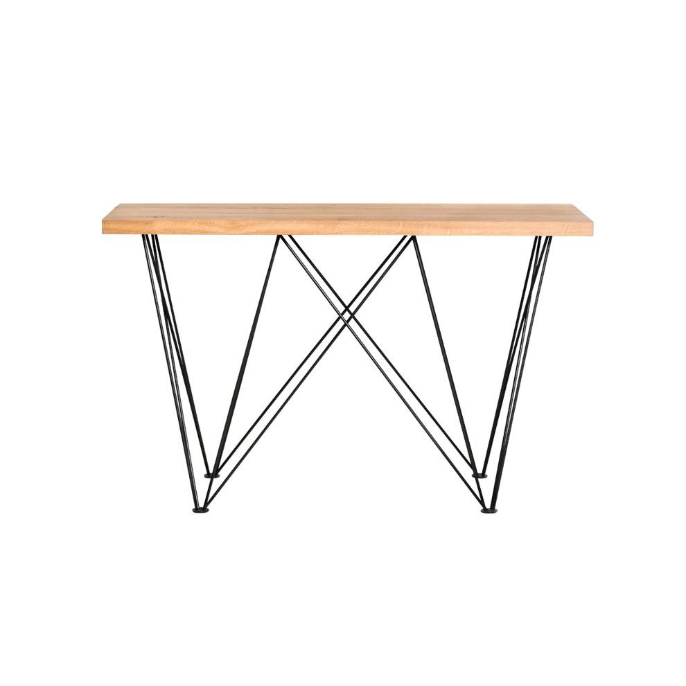 Стол Paige Console TableОбеденные столы<br>Ножки выполнены из металла.<br><br>Material: Дуб<br>Width см: 125<br>Depth см: 40<br>Height см: 81
