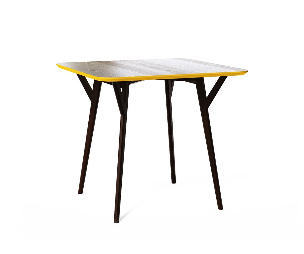 Обеденный стол SQUAREОбеденные столы<br>Стол Square. Неклассический квадратный стол от The IDEA. Удобная столешница без острых углов, основание из массива дуба, выверенные пропорции и множество цветов отделки – особенно удачная находка для небольших помещений и общественных пространств.<br><br>Material: Дерево<br>Length см: 90<br>Width см: 90<br>Depth см: None<br>Height см: 78<br>Diameter см: None