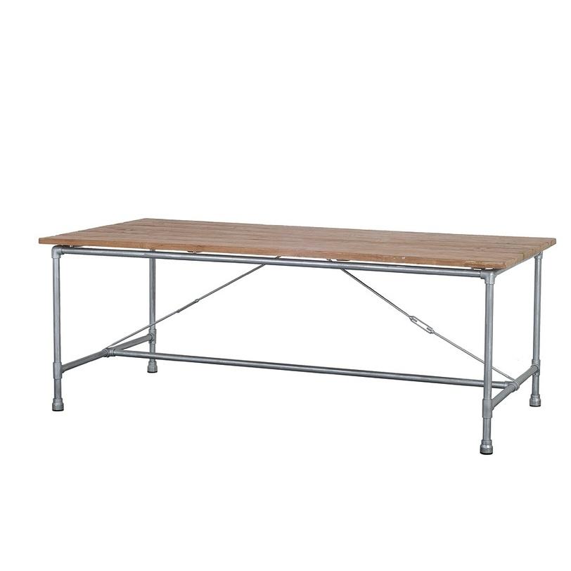Стол обеденный Tavolo 140 DingklikОбеденные столы<br>Стильный обеденный стол в стиле лофт, ноги сделаны из металлических труб, столешница из антикварного тика. Большой выбор размеров, вы сможете выбрать наиболее подходящий для вашего дома.<br><br>Material: Тик<br>Length см: None<br>Width см: 140.0<br>Depth см: 90.0<br>Height см: 78.0<br>Diameter см: None