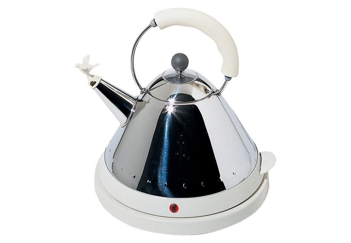 Чайник электрический со свистком (alessi) белый