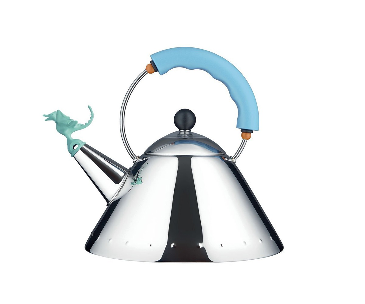Чайник со свистком tea rex голубойЧайники<br>Этот чайник является вариацией знаменитого чайника бренда Alessi, который впервые был представлен в 1985 году. Насадка в виде динозавра &amp;quot;поёт&amp;quot;, когда вскипает вода. Сочетание отличного дизайна и популярности этого чайника является результатом упорной работы под влиянием таких направлений, как Art Deco и Pop Art.<br><br>Material: Сталь<br>Height см: 22,5<br>Diameter см: 22