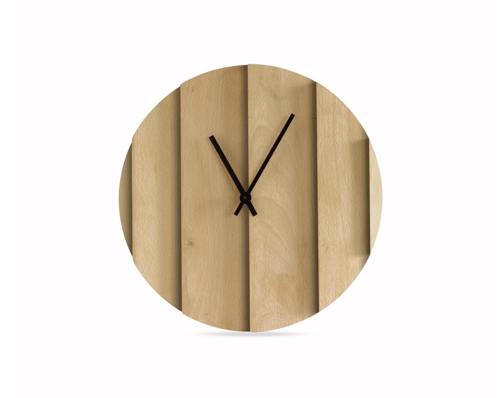 Часы ParallelsНастенные часы<br><br><br>Material: Дерево<br>Diameter см: 35