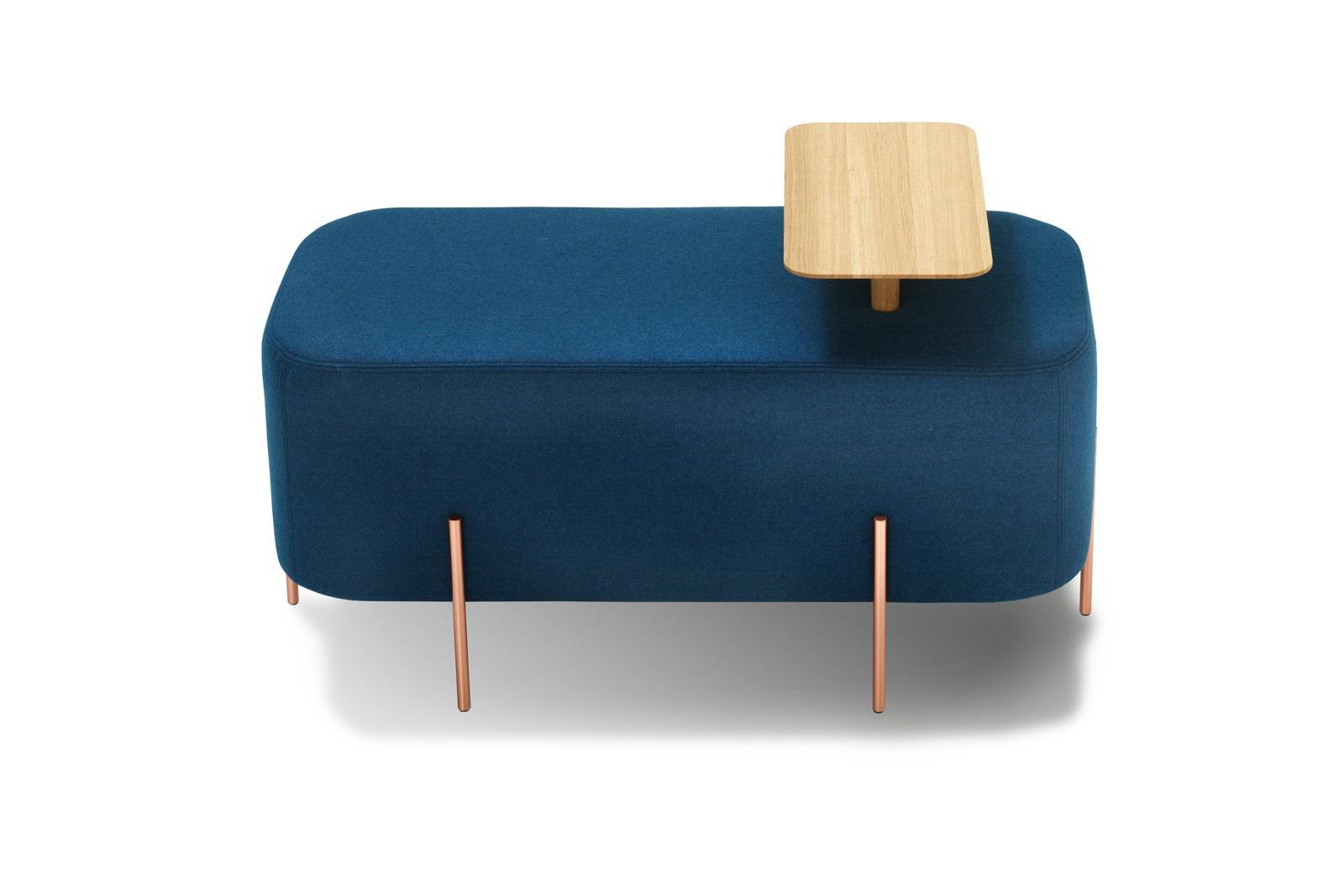Пуфик ElephantФорменные пуфы<br>Пуфик Elephant от компании Sancal – это выразительный предмет мягкой мебели с простой геометрической формой, металлическим каркасом и деревянным поддоном. Он универсален в использовании и может служить подставкой для ног дома, табуретом в кафе, удобным сиденьем на ресепшн – и не только. Для создания пуфа дизайнеры Nadadora выбрали благородные и надежные материалы – дуб, шерсть, лен и хлопок, а также медь и графит для покрытия ножек. Приобрести этот приятный предмет дизайнерской мебели вы можете в нашем интернет-магазине.<br><br>Material: Текстиль<br>Width см: 45<br>Depth см: 45<br>Height см: 42