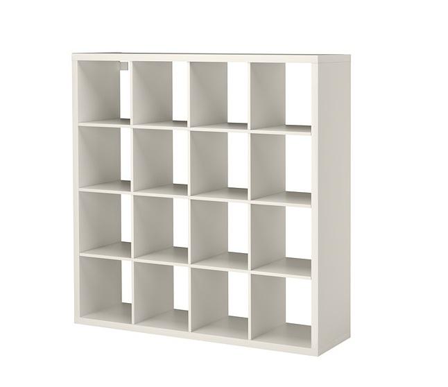 стеллаж каллакс Ikea белый дсп 147x147x39 см 45953 купить в