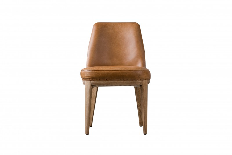 Стул AlvarОбеденные стулья<br><br><br>Material: Кожа<br>Width см: 52<br>Depth см: 66<br>Height см: 82