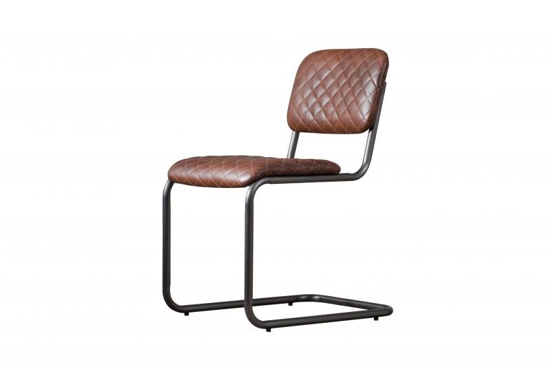 Стул обеденный RobbinsОбеденные стулья<br><br><br>Material: Кожа<br>Width см: 47<br>Depth см: 61<br>Height см: 87