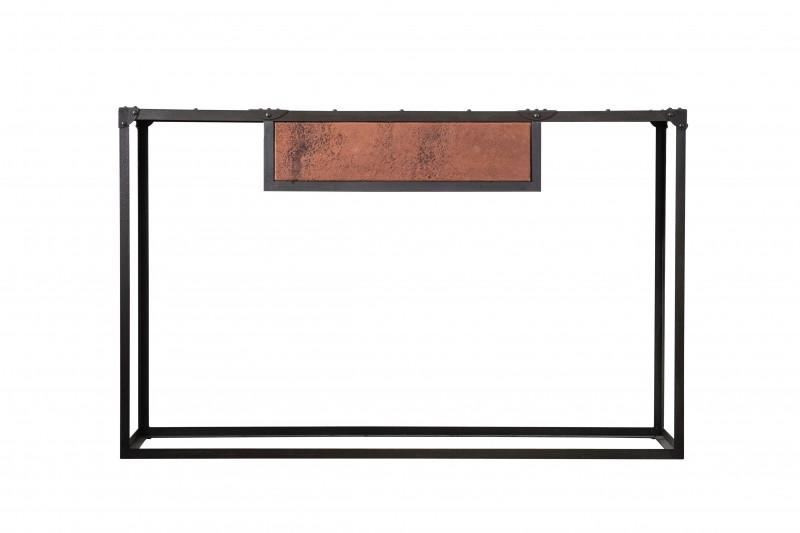 Консоль BrickellКонсоли с ящиками<br><br><br>Material: Кожа<br>Width см: 143<br>Depth см: 46<br>Height см: 89