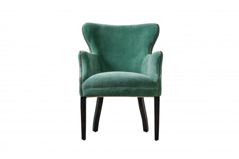 Кресло DiselПолукресла<br>Кресло DIESEL насыщенно-бутылочного цвета с необычной формой ножек прекрасно дополнит интерьер, как гостиной, так и кабинета или спальни.<br><br>Material: Текстиль<br>Width см: 64<br>Depth см: 72<br>Height см: 88
