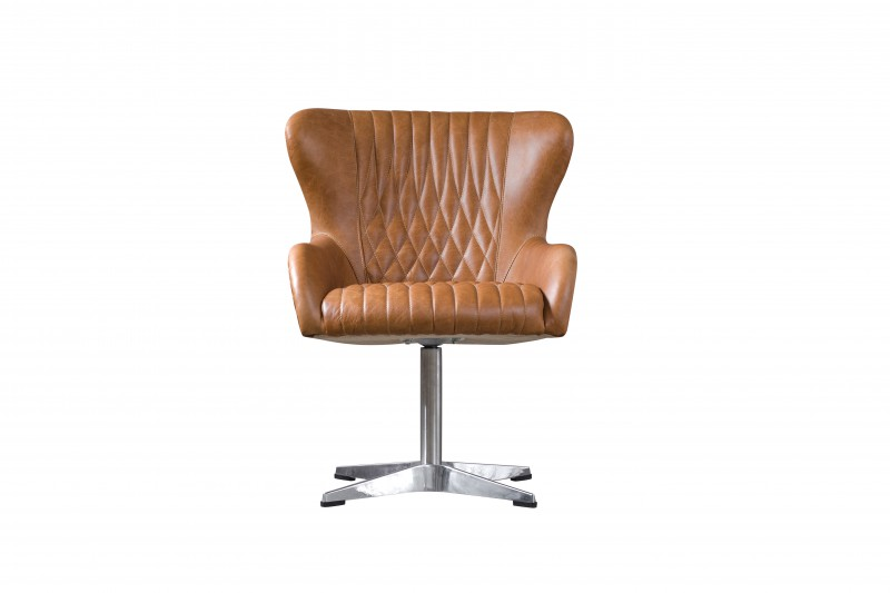 Кресло PRINCESSРабочие кресла<br>Кожаное кресло песочного цвета Princess идеально подойдет как для кабинета, так и для гостиной. Благодаря строению металлической ножки кресло Princess устойчивое. Внешняя сторона кресла отделана металлом, внутренняя — выполнена из кожи и декорирована металлическими заклепками.<br><br>Material: Кожа<br>Width см: 66<br>Depth см: 76<br>Height см: 88