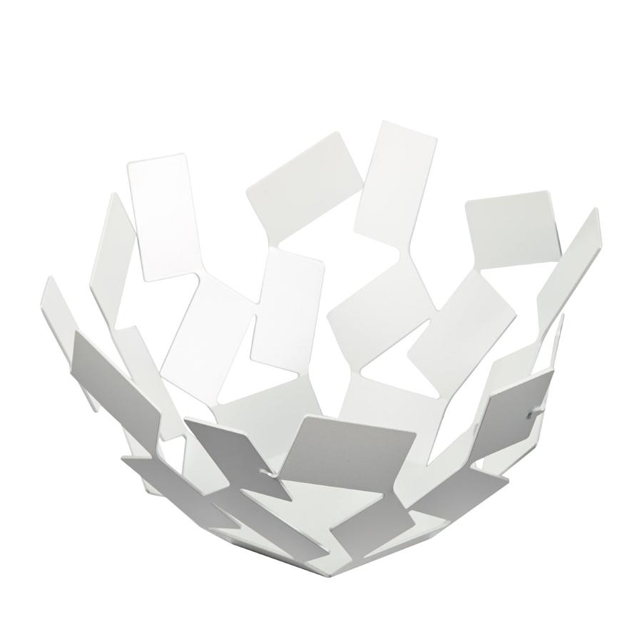 Ваза для фруктов La stanza dello sciroccoЧаши<br>Великолепная ваза для фруктов из обширной серии предметов для гостиной и кухни  La Stanza dello Scirocco.<br><br>На создание коллекции архитектора и дизайнера Марио Тримарки вдохновили традиционные комнаты «сирокко», которые можно повстречать в богатых сицилийских домах. Эти небольшие помещения без окон предназначены для укрытия в случае сильного средиземноморского ветра. Шум мощных порывов, философские размышления о жизни и игра теней на стене — такова атмосфера этих комнат, в которых люди бывают вынуждены проводить в бездействии долгое время. <br><br>Тонкие пластины, которые образуют ассиметричные формы коллекции, кажутся как будто закрученными в воздухе ветряным вихрем. При первом взгляде на блюдо даже может показаться, словно отдельные его части никак не закреплены между собой: еще чуть-чуть — и оно разлетится в разные стороны!&amp;amp;nbsp;<br><br>Material: Сталь<br>Height см: 13<br>Diameter см: 27,3
