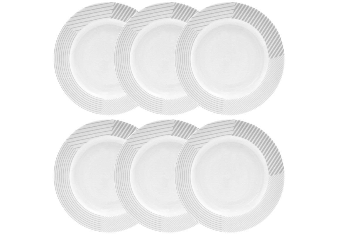 Тарелка MALVERN (6 шт)Тарелки<br><br><br>Material: Фарфор<br>Diameter см: 20