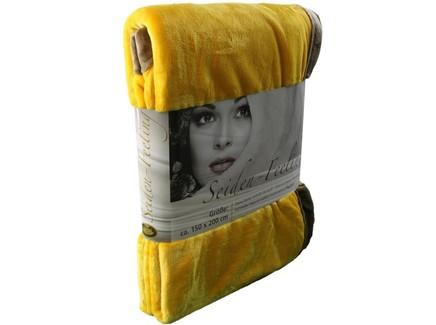 Плед seiden-feeling (goezze) желтый 200.0x150.0 см.