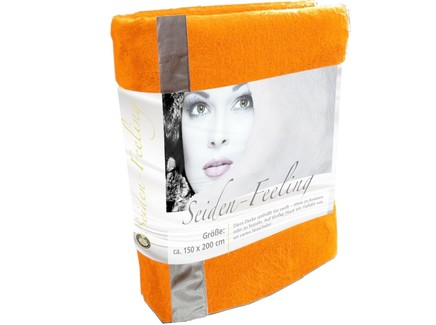 Плед seiden-feeling (goezze) оранжевый 220.0x180.0 см.