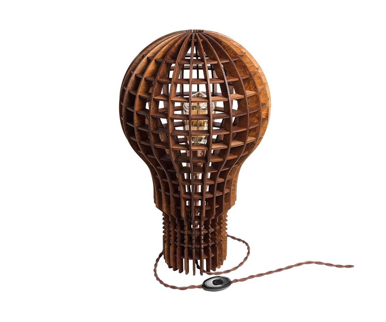 Деревянный cветильник Лампочка ИльичаДекоративные лампы<br>Деревянный светильник в стиле Лофт. Возможно изготовление в двух цветах - натуральный ( покрытый лаком ) и темный ( мореный ). Поставляется в собранном виде.&amp;amp;nbsp;&amp;lt;div&amp;gt;&amp;lt;br&amp;gt;&amp;lt;/div&amp;gt;&amp;lt;div&amp;gt;&amp;lt;div&amp;gt;Вид цоколя: E27&amp;lt;/div&amp;gt;&amp;lt;div&amp;gt;Мощность: 60W&amp;lt;/div&amp;gt;&amp;lt;div&amp;gt;Количество ламп: 1&amp;lt;/div&amp;gt;&amp;lt;/div&amp;gt;&amp;lt;div&amp;gt;Лампочка в комплект не входит.&amp;amp;nbsp;&amp;lt;br&amp;gt;&amp;lt;/div&amp;gt;<br><br>Material: Дерево<br>Length см: None<br>Width см: None<br>Height см: 50<br>Diameter см: 30