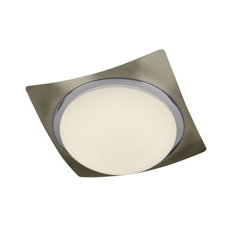 Светильник настенный AlessaБра<br>Светильник со стеклянным плафоном и встроенной светодиодной матрицей  мощностью 6 W (эквивалент лампы накаливания 40 W). Цветовая температура 4000-4200К. <br>Светильник поставляется в собранном виде и имеет в комплекте все необходимые для монтажа крепежные элементы.<br><br>Material: Стекло<br>Width см: 22,5<br>Depth см: 22,5<br>Height см: 9<br>Diameter см: 0